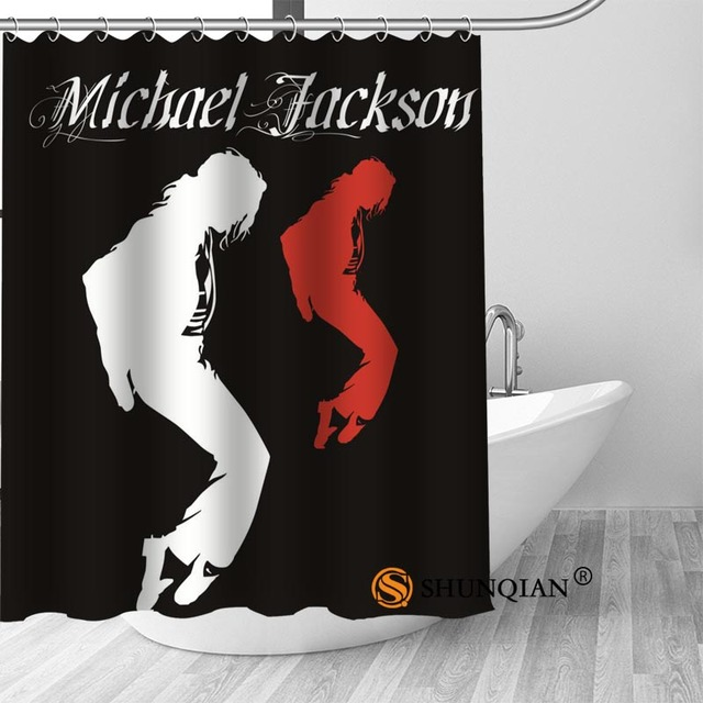 5 Michael jackson shower curtain washable thickened 5c64f7a44eda9