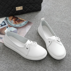 Image 4 - AARDIMI Women Loafers Genuine Leather Ladies Flat Shoes Ballet Flats Woman Causal Shoes Nurse Shoes Woman Platform Women Flats