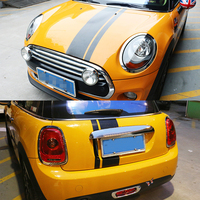 Car Body Stickers Engine Hood Rear Trunk Cover Decoration Stipe Decals Universal for Mini Cooper Countryman Clubman F54 F56 F55
