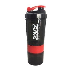 Image 1 - Creatieve Protein Poeder Shaker Fles Sport Fitness Mengen Wei eiwit Water Fles Sport Shaker Voor Gym Krachtige Lekvrij