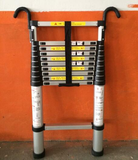 2.9M Retractable Ladder Portable Multipurpose Straight Ladders Telescopic Ladder With Hook