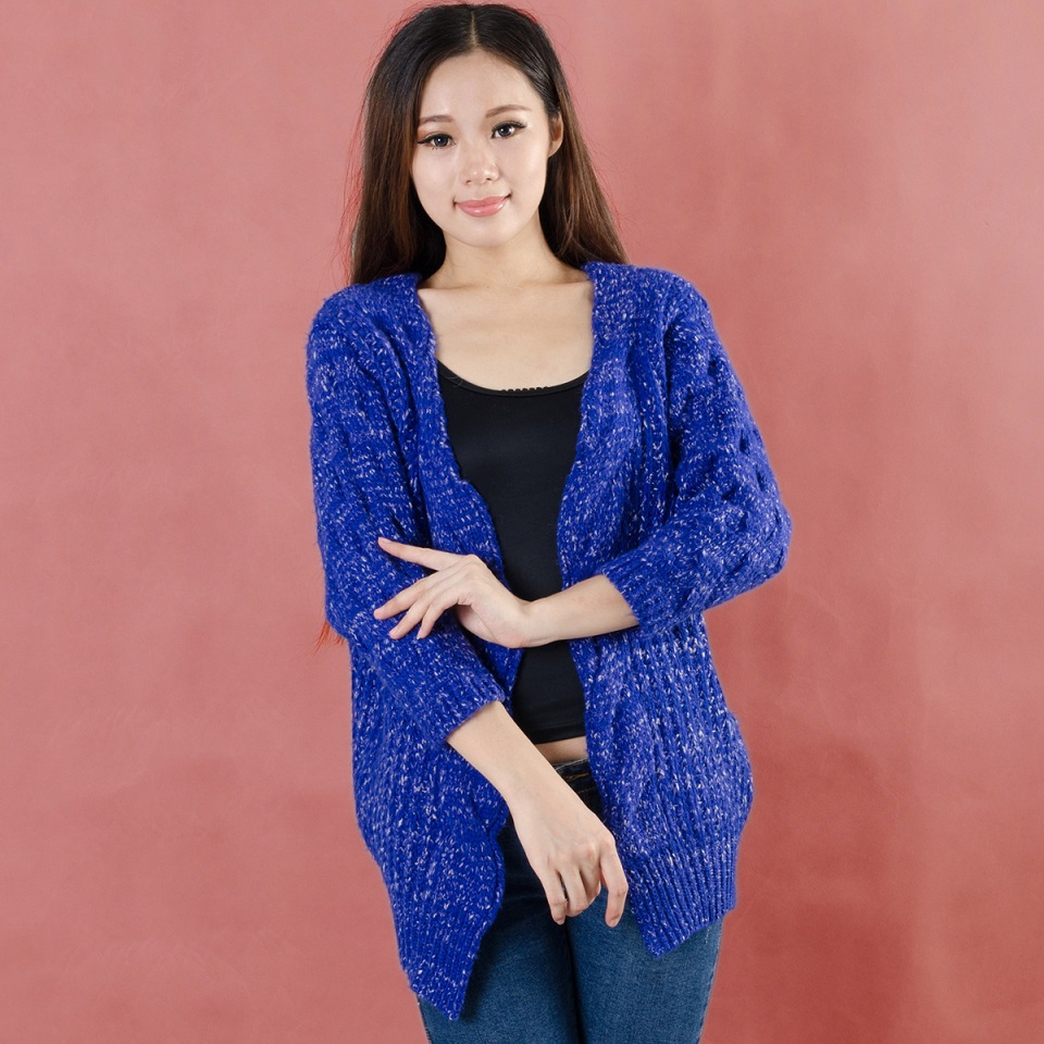 2014 Women Cardigans Royal Blue Cardigan Women Sweaters Korean ...