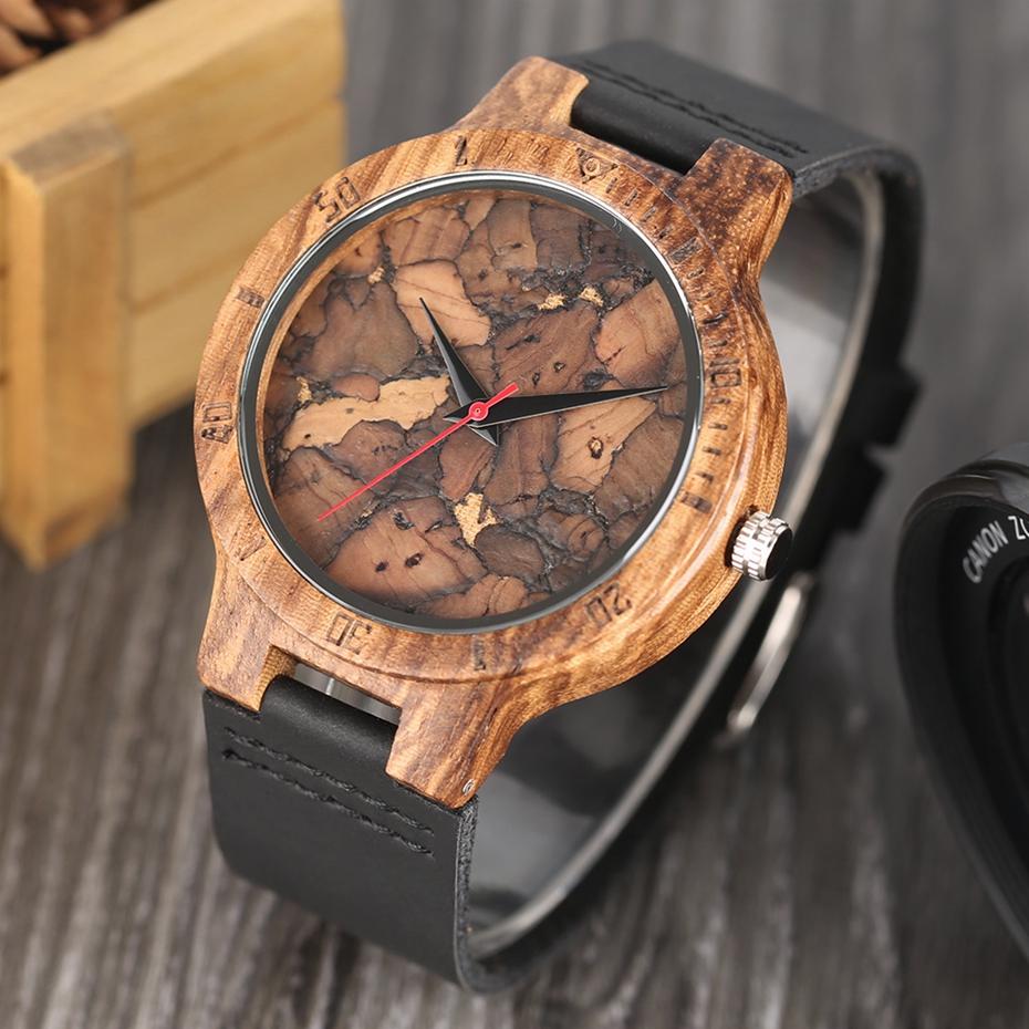 Creative Full Natural Wood Male Watches Handmade Bamboo Novel Fashion Men Women Wooden Bangle Quartz Wrist Watch Reloj de madera 2017 (69)