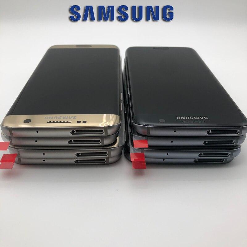 5,5 SUPER Amoled Bildschirm für SAMSUNG Galaxy S7 rand Display G935 SM-G935F LCD Touch Digitizer mit Rahmen Montage
