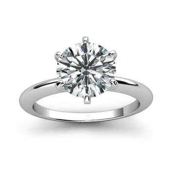 Classic 14K White Gold 1ct 2ct 3ct Moissanite Diamond Ring jewelry Trendy Wedding Party Engagemen Anniversary Ring - DISCOUNT ITEM  58% OFF All Category