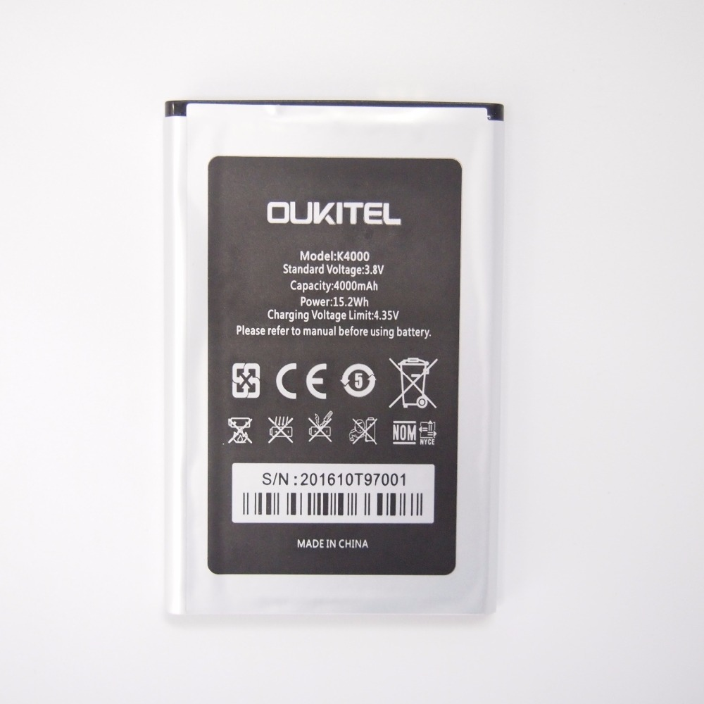Oukitel K4000 Battery High Capacity 4000mAh Bateria Replacement for Oukitel K4000 100% New Original Canfriendly Phone Batteries