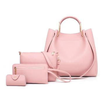 4pcs/set PU Leather Luxury Women Bags Casual Handbags