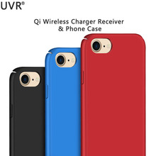 UVR Qi Wireless Charger Receiver Case for IPhone 6/6s/7 & Plus Cover Silicone Coque Power Charging Transmitter Case for IPhone