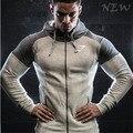 Hoodies de los hombres gymshark sudaderas con capucha patchwork cinturón Muscular Hermanos hombre hoodies sportwear de la manga completa ropa gimnasios