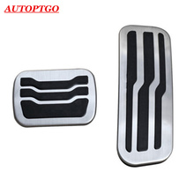 NO Drill Car Foot Gas Fuel Brake Pedal Pads Accessory For Ford Explorer 2011-2018 Accelerator Pedals Kit 2Pcs no drill 2pcs fuel gas brake foot pedal pad plate set for jaguar xf 2009 2015