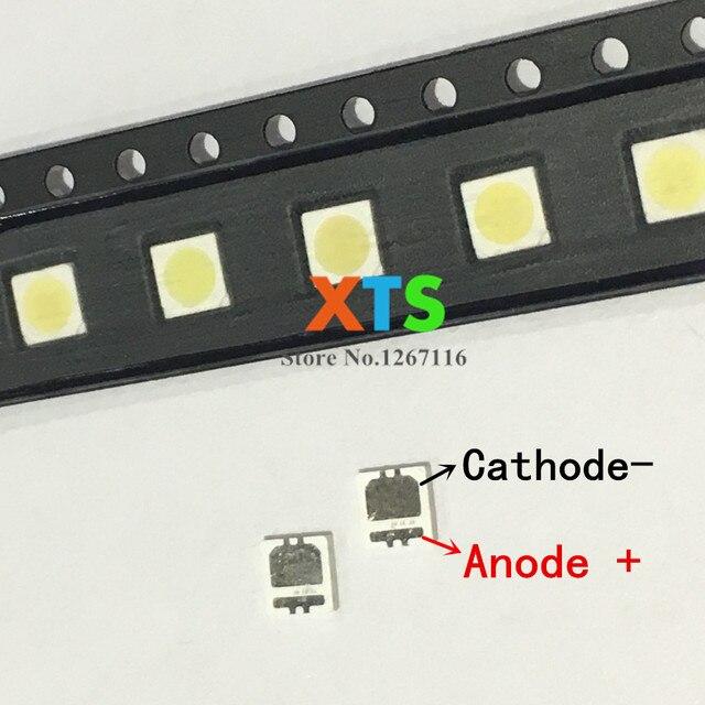 500 sztuk/partia seulu wysokiej dioda LED dużej mocy podświetlenie LED 2W 3535 6V zimny biały 135LM do tv SBWVL2S0E