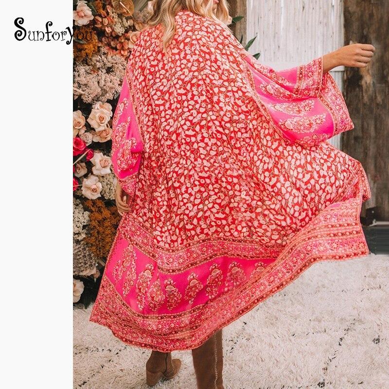 2020 Print Chiffon Beach Cover Up Tunics For Beach Beachwear Robe De Plage Saida De Praia Kaftan Bathing Suits Cover Up Pareos