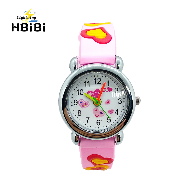 New Listing !  Flower Green Plant Mushroom Child Watch Kids Watches Children For Boys Girls Clock Rubber Strap Quartz Wristwatch