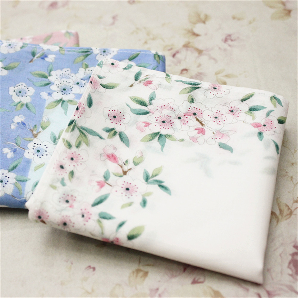 1pc 43x43cm Women Lady Girl Cotton Square Handkerchief Sweat Towel Printed Flower