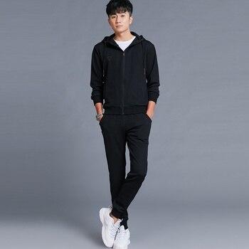 Tracksuits mens running sets  Sportswear 2 pcs