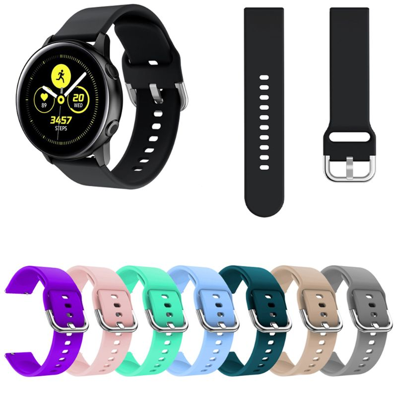 Soft Silicone Replacement Watch Band Wrist Strap Sport Watchband Bracelet For Samsung Galaxy Watch Active Accessories