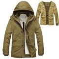 Homens Jaket inverno Marca quente do Homem Jaqueta Casaco Parka de Algodão casaco Outwear Jaqueta de Inverno Dos Homens Plus Size M-5xl 260