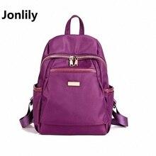 Jonlily высокое качество Водонепроницаемый Оксфорд женские рюкзак Сумки Тенденции Моды Досуг Все-Матч Ретро Путешествия Колледж стиль-GL161