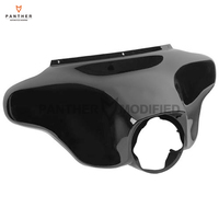 Black Motorcycle Front Batwing Upper Fairing Cowling Speedometer Cover Case For Harley Davidson Electra Glide 2008
