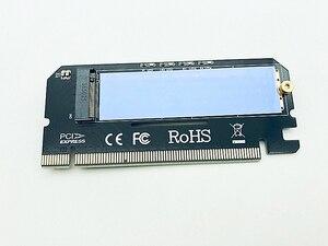 Image 2 - M.2 NVME بكيي إلى M2 محول LED NVME SSD M2 بكيي x16 التوسع بطاقة الكمبيوتر محول واجهة M.2 NVMe SSD NGFF إلى بكيي 3.0X16