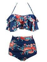 FITWEAR Women Bikinis 2 Pieces Suit High Waist Swimsuit For Women Female Halter Biquinis Bathing Suit