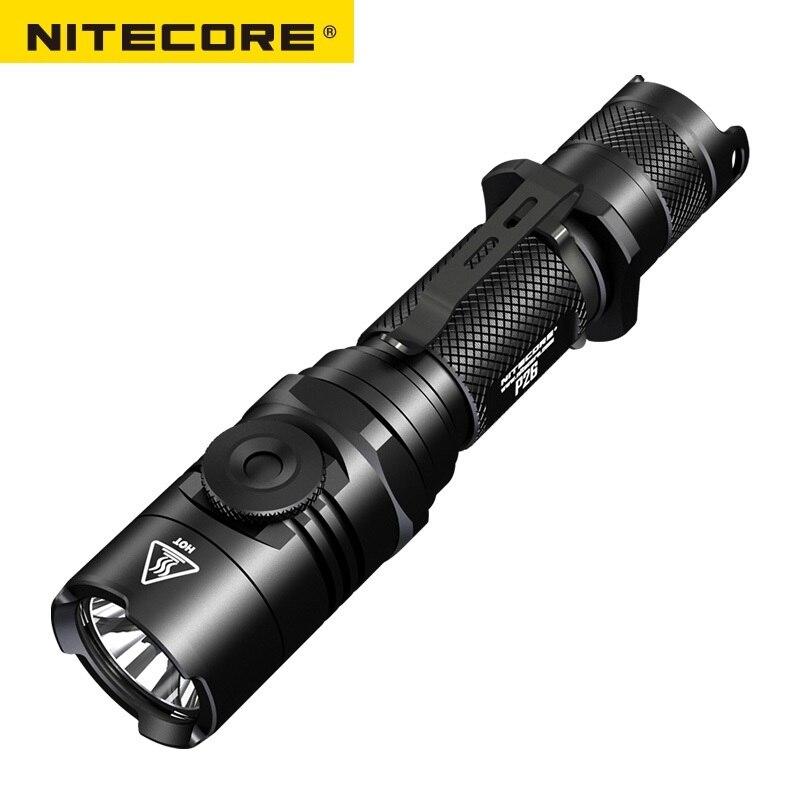 2018 new Nitecore P26 1000Lm CREE XP-L HI V3 Led Rotary Switch Tactical Led Flashlight nitecore mt10a 920lm cree xm l2 u2 led flashlight torch