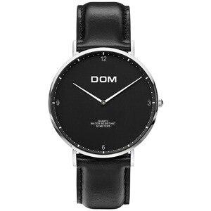 Image 2 - DOM 2018 Fashion Watches For Men Hour Mens Watches Top Brand Luxury Quartz Watch Man Leather Sport Wrist Watch Clock relogio
