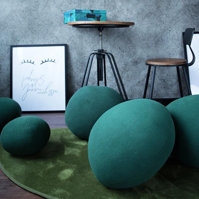 Фиолетовый/зеленый камень Подушка Nordic дома сплошной цвет сферические ленивый диван Детское сиденье Подушка Плюшевые, полипропиленовые, хлопковые офисные Подушка для сна