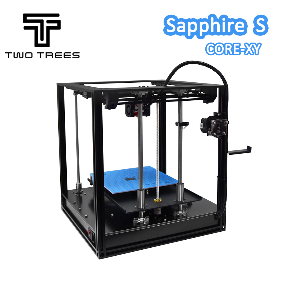 Image 2 - Impresora 3D de dos árboles, zafiro de alta precisión, nivelación automática, marco de perfil de aluminio, Kit de DIY estampado Core XY structureImpresoras 3D   -