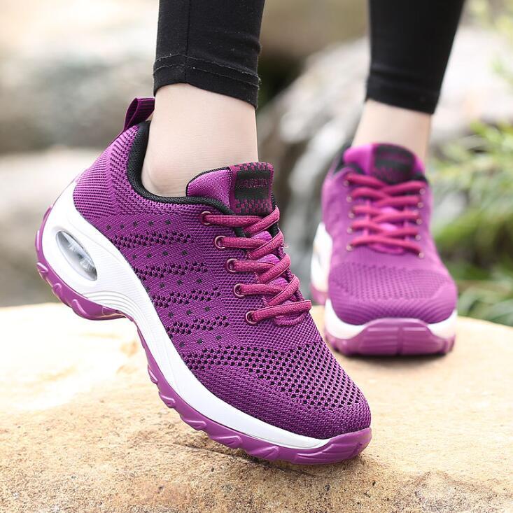 SANMM Women Mesh Flat Platform Shoes Breathable Walking Shoes Woman Spring Autumn Light Comfortable Sneakers AZ17