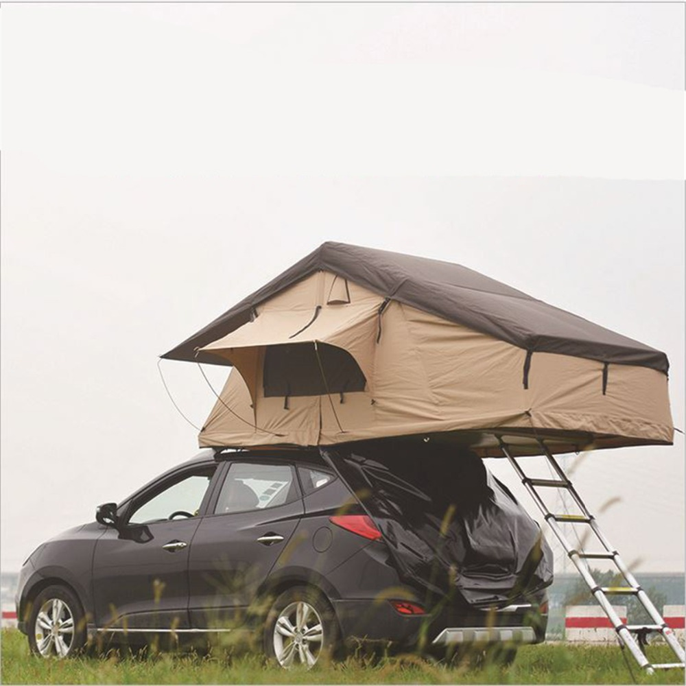 Dhl Free Ship 3 4 Person Car Top Tent With Folding Ladder