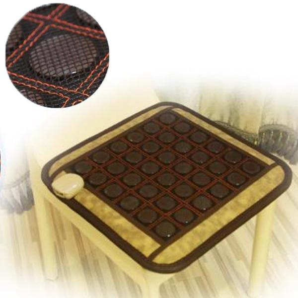 2016 Best quality! Natural Tourmaline Mat Beauty Mattress Jade Health Care Pad Heating Pad Size 50cmX50cm best selling natural tourmaline heating mat jade health care pad infrared heat cushion size 50 150cm free shipping