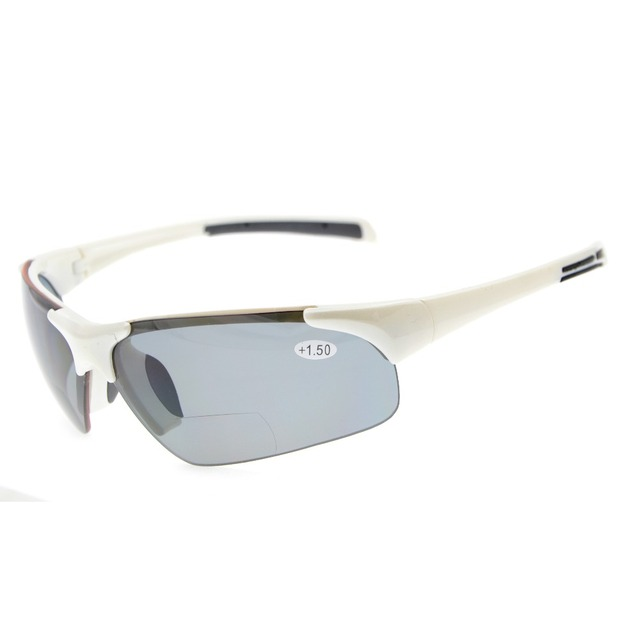 TH6186 Bifocal Eyekepper TR90 Unbreakable Sports Half-Rimless Bifocal Sunglasses +1.0/+1.5/+2.0/+2.5/+3.0