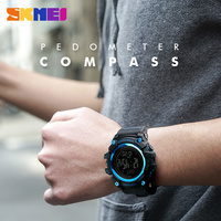 SKMEI 1356 Men/Women Watch Pedometer Waterproof Sports Watches chronWristwatches Relogio Masculino