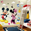 3D Cartoon Mickey and Minnie Mouse Wall Stickers Kids Baby Nursery bedroom Decals home Decor the little prince kids gift *