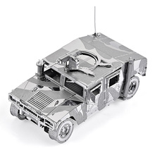 3D Metal Nano Puzzle 4WD Military Automobile Hummer P036-S DIY 3D Laser Cut Assemble Jigsaw Toy For Gifts