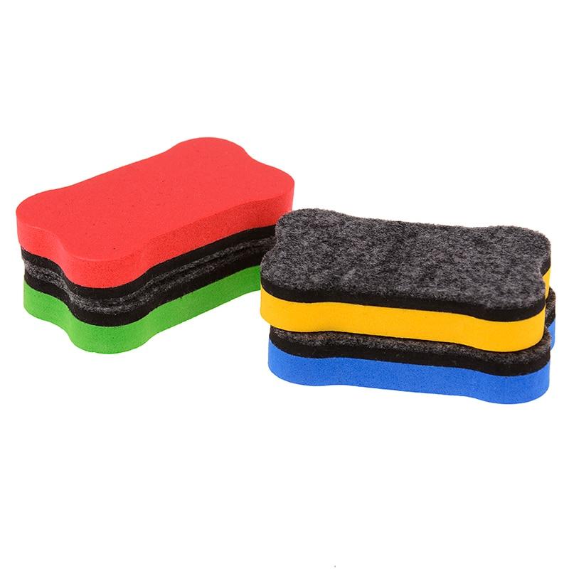 Magnetic Blackboard Chalkboard Whiteboard Eraser Cleaner Dry Wipe Marker Pen Duster White Black Chalk Board Muti Color Randomly