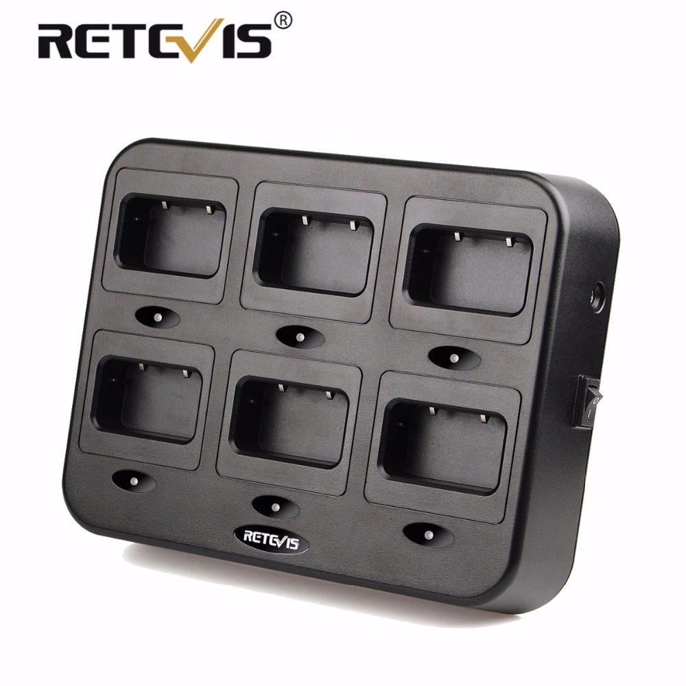 Retevis RTC21 Six-Way Charger Radio/Battery Charger For Retevis RT21/RT24/H777S/RT24V For Hotel/Restaurant Walkie Talkie