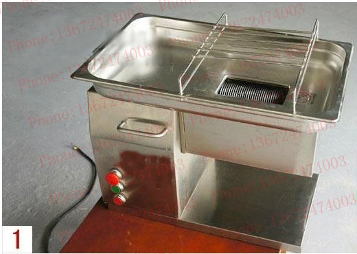 Free shipping~500KG/Hr QH meat cutting machine Stainless steel blades Mest Slicer fast shipping by DHL