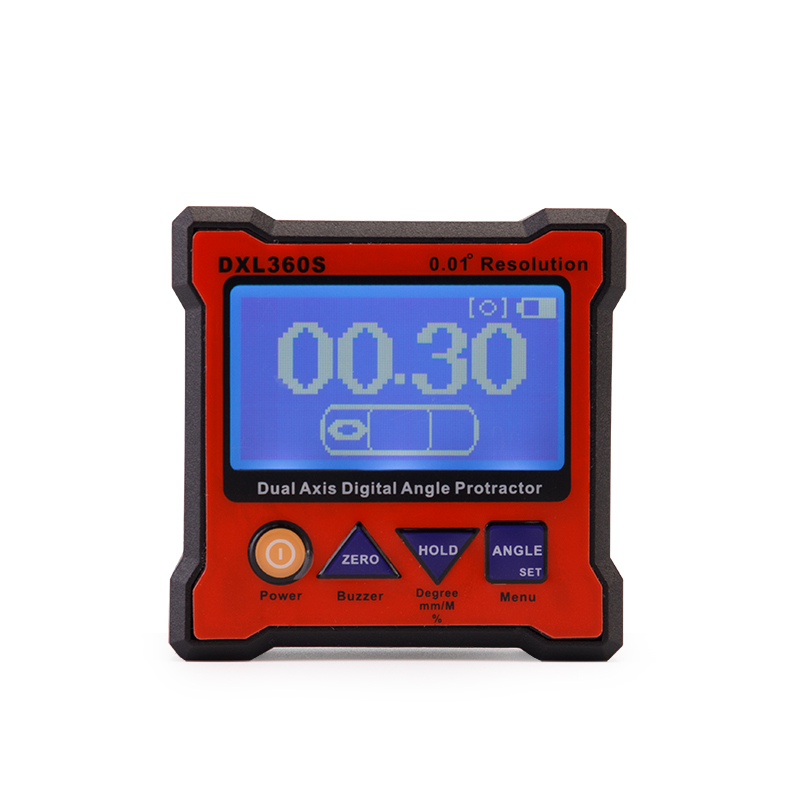 High-precision DXL360S Dual Axis Digital Angle Protractor Dual-axis Digital Display Level Gauge with 5 Side Magnetic Base free shipping dxl360s new mini digital protractor inclinometer dual axis level measure box angle ruler gyroscope function