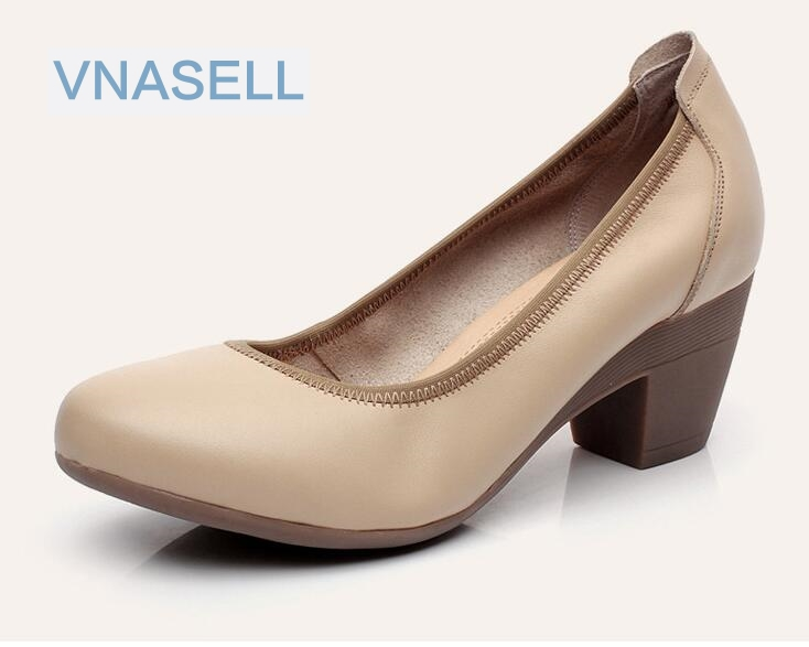 Vnasell women shoes soft genuine leather comfortable low ...