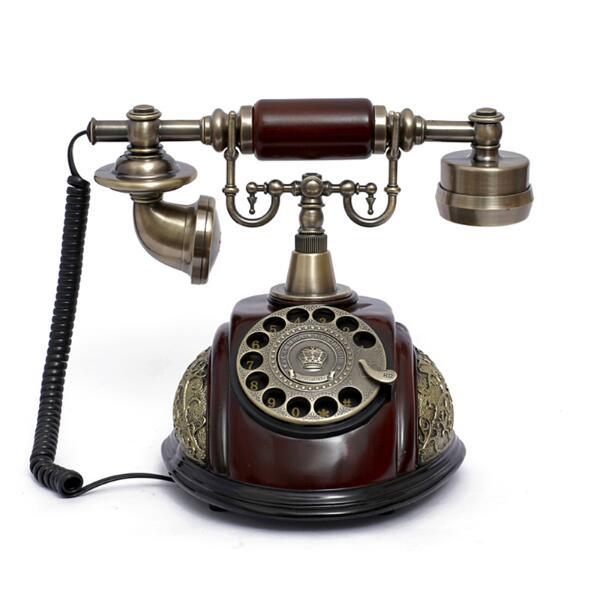 European Antique Telephone Set Classical Rotary Dial Telephone Resin Classical Telephone