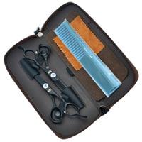 6Inch Kasho Dragon Handle Black Paint Cutting Scissors And Thinning Scissors Kits Human Hair Scissors With