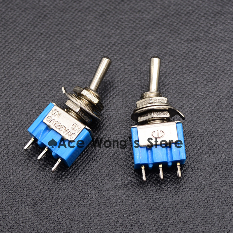 10PCS Blue Mini MTS-102 SPDT 3Pin 6A 125VAC 2 Position On-on Toggle Switches 3.3*1.3*0.8cm SPDT 6A 125V AC/3A 250V AC h dwight perkins economics of development 6e im tif