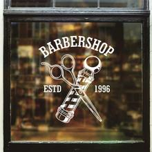 Hombre Barber Shop pegatina tiempo nombre Chop bread Decal haircut posters vinilo Wall Art decalques Ventanas decoracion mural25