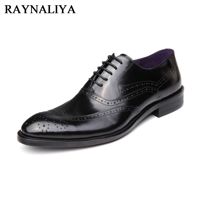 New 2018 Fashion Men Dress Shoes Black Leather Pointed Toe Male Business Shoes Lace-Up Men Falt Office Shoes YJ-B0035 choudory new winter men ankle italian shoes men leather shoes pointed toe mens black dress shoes sequined toe spiked loafers men
