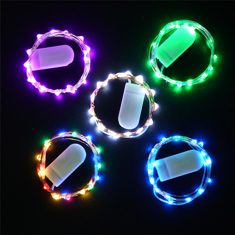 5 Pack Copper Wire Fairy Lights 2M 20LED Garland Starry String Lights Battery Operated LED Firefly Lights Waterproof String Lamp