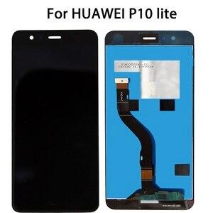 Image 3 - 100% En AAA Yok Ölü Piksel HUAWEI P10 Lite 5.2 inç orijinal lcd ecran Ekran Çerçeve ile Ekran Yedek Lens pantalla