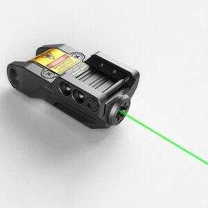 Laserspeed Прямая поставка 9 мм лазер для пистолета тактический Глок лазерный прицел перезаряжаемая лазерная указка mira laser para glock