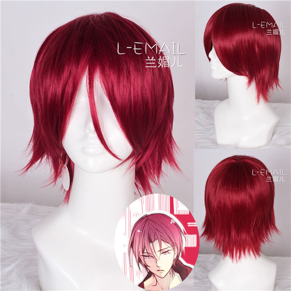 30cm Free Iwatobi Swim Anime Rin Matsuoka Bright Red Short Straight Hair Wig Party Club Burgundy Cosplay Wigs Zy45 Wig Hinata Wigwigs Sexy Aliexpress He is a freestyle and butterfly swimmer for the samezuka academy swim team and is made team captain after seijuro. aliexpress